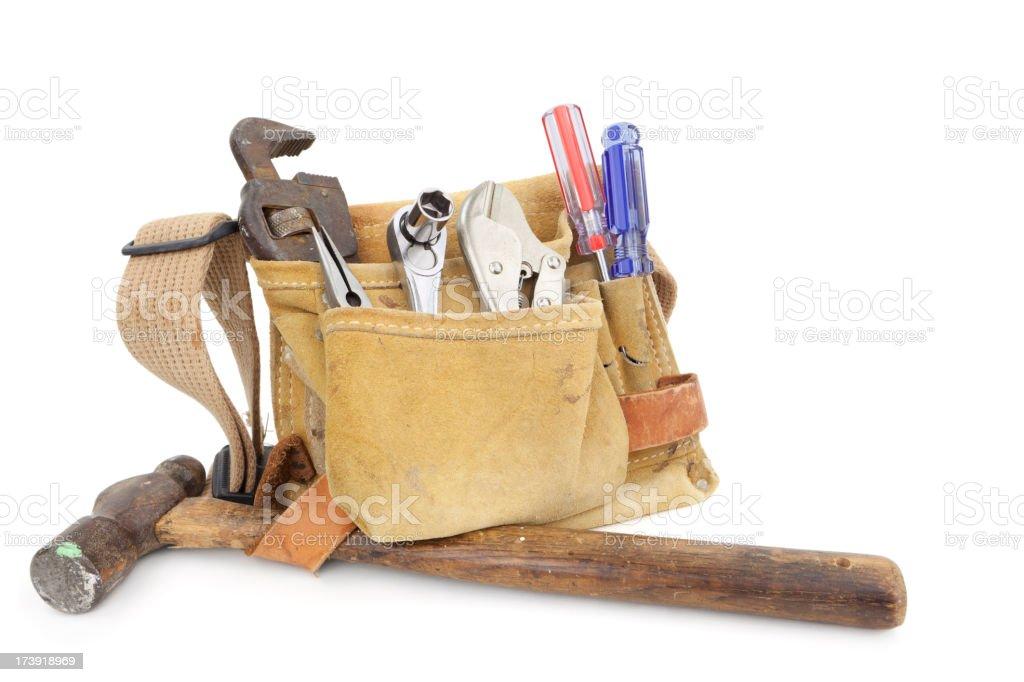 Tool Belt With Tools  Isolated XXXL stock photo