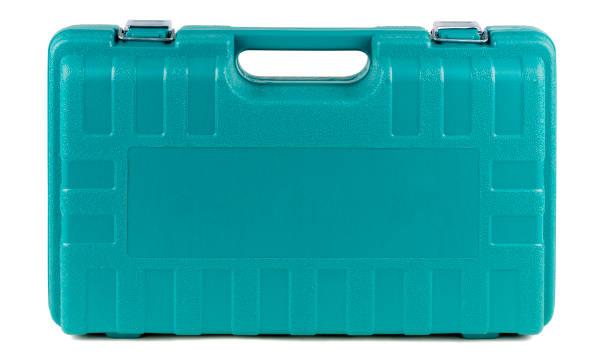 toolbox aus hartplastik mit metallklammern - plastikbeutel handwerk stock-fotos und bilder