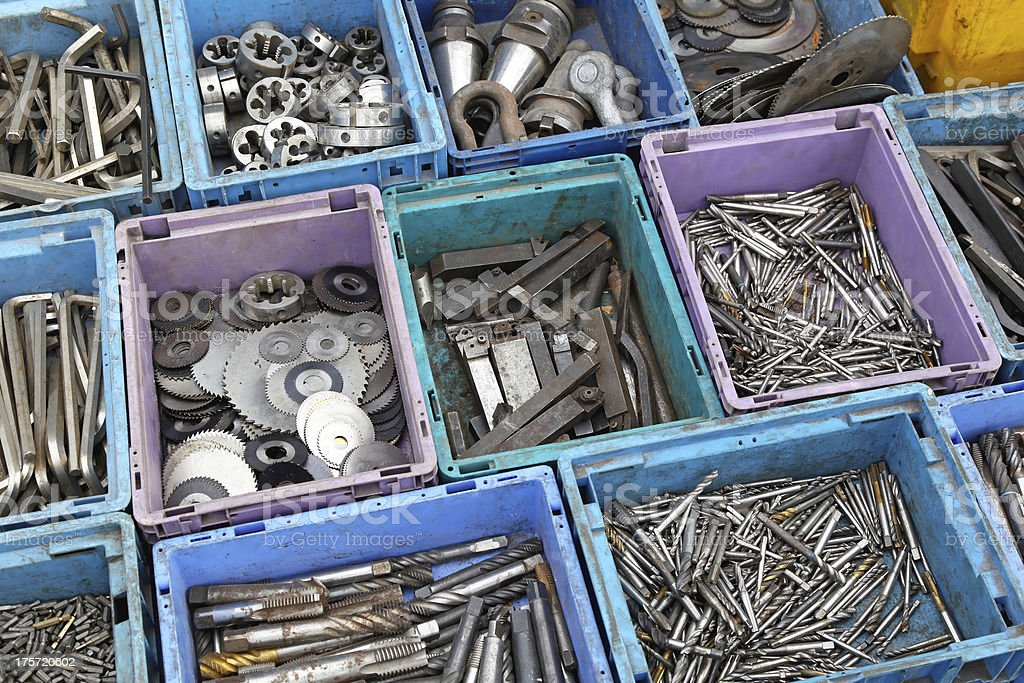 Tool in boxes royalty-free stock photo