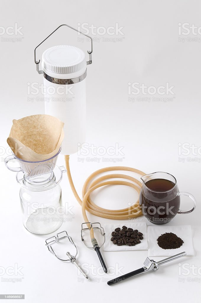 Tool kit for Coffee Enema royalty-free stock photo