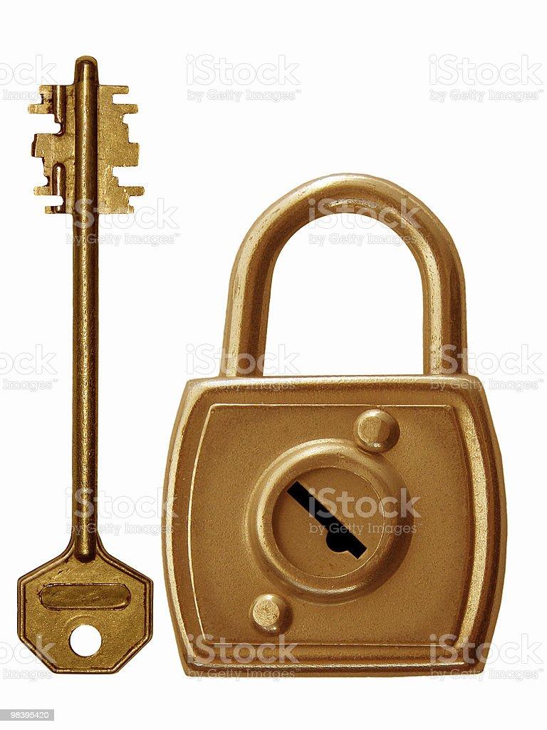 Tool   lock  key royalty-free stock photo