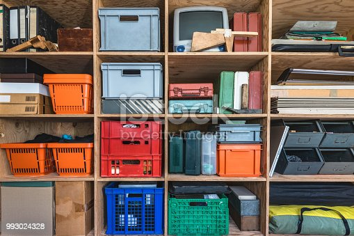 tool shelf in creative home office
