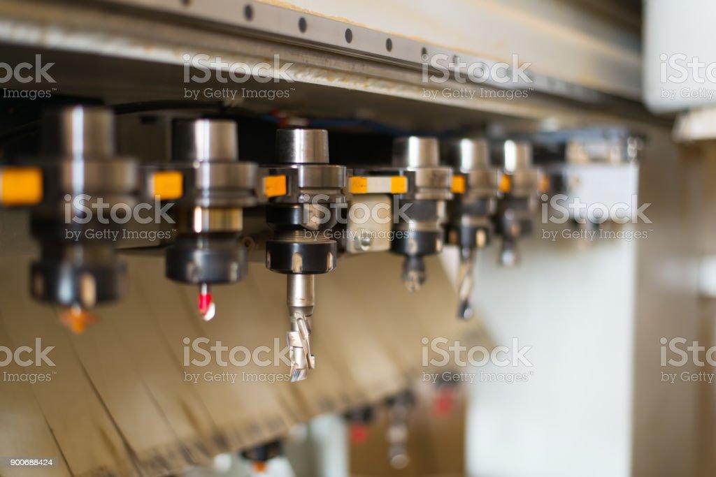 Tool Shop for CNC Machine. Cutting tool. stock photo