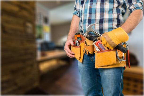 toolbelt. - tool belt stock photos and pictures