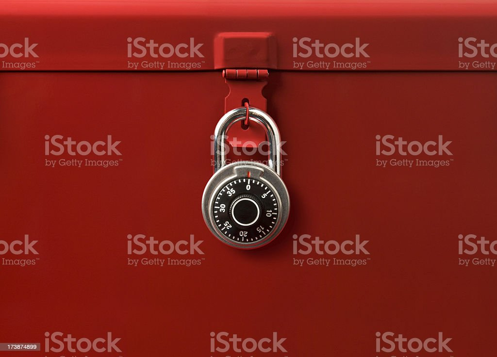 Toolbox and Lock stock photo