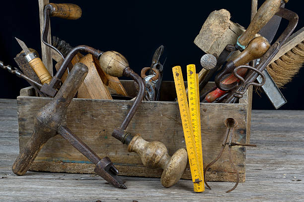 toolbox three stock photo