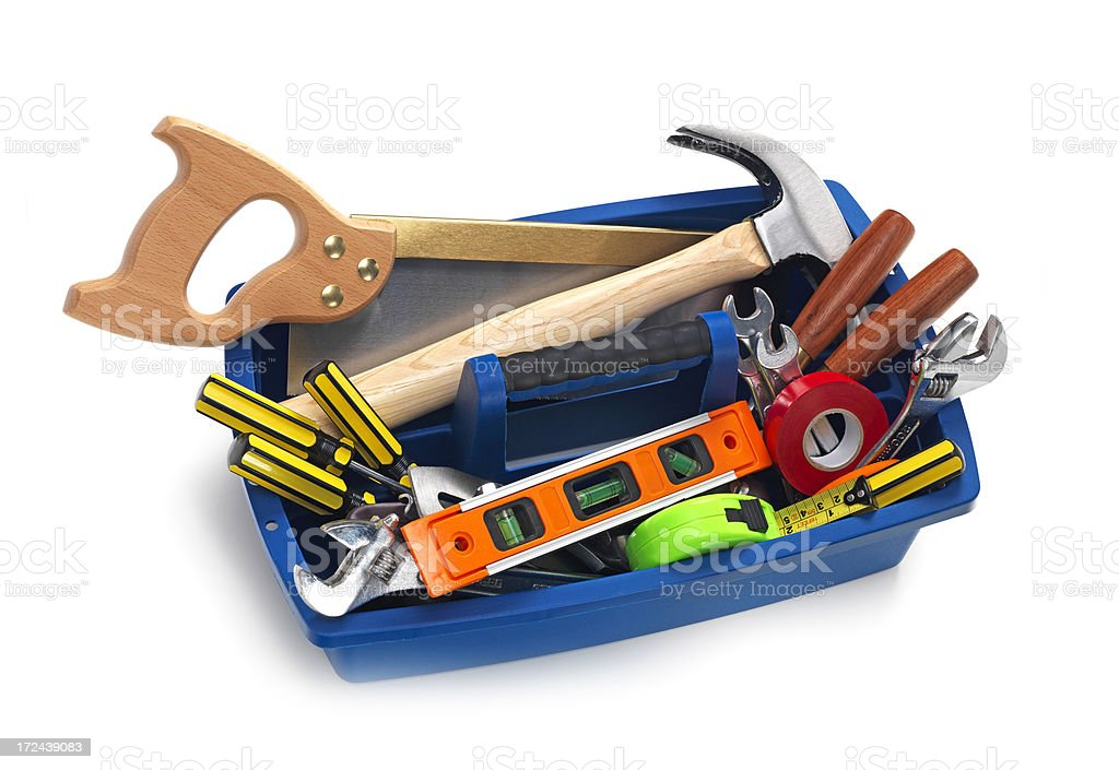 Toolbox with Clipping Path royalty-free stock photo