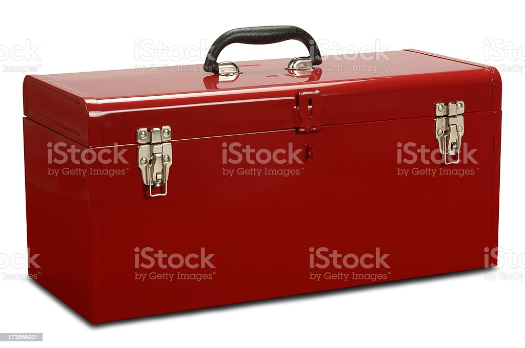 Toolbox with Path royalty-free stock photo