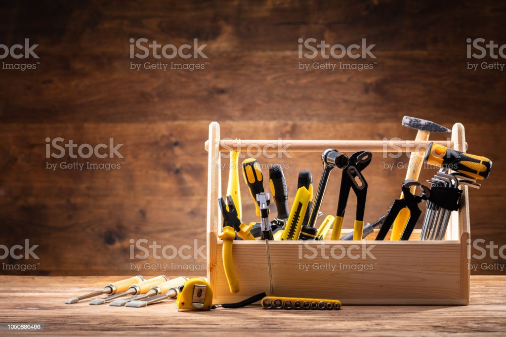 Toolbox With Various Worktools stock photo