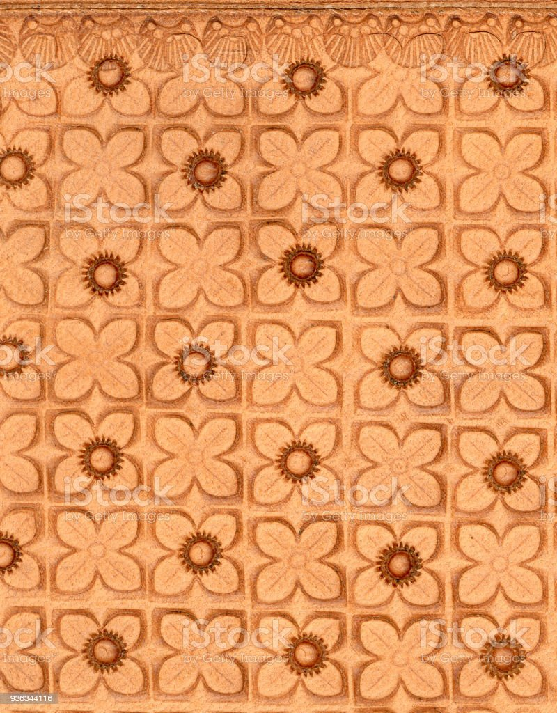 Tooled Leather In Floral Design Stock Photo Download Image Now Istock