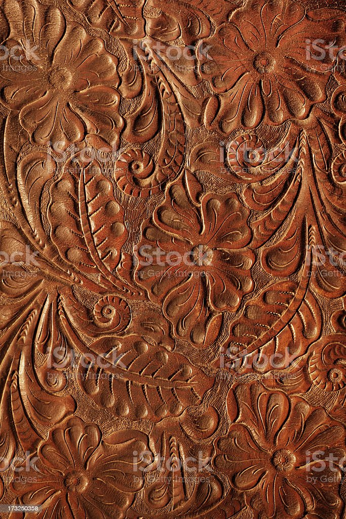 Tooled Leather stock photo