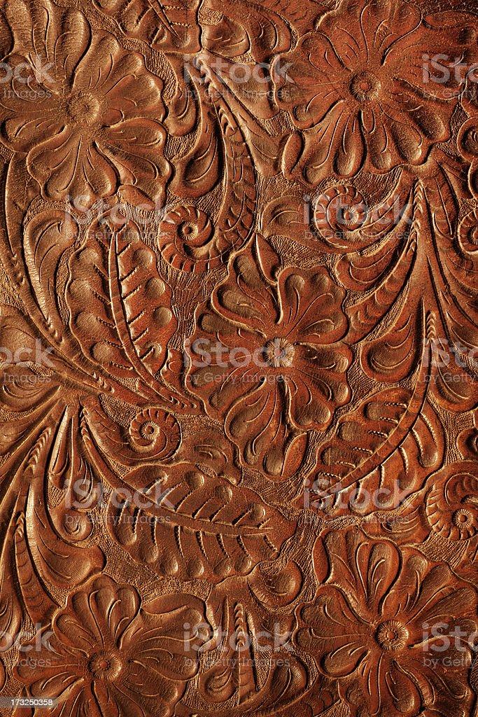 Tooled Leather stock photo