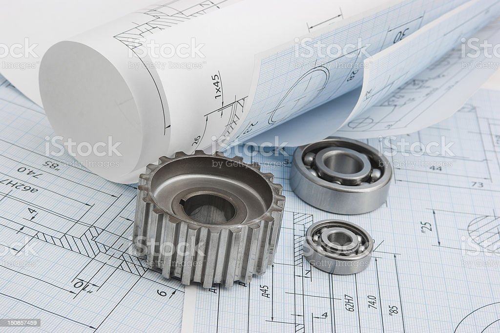tools and mechanisms detail royalty-free stock photo