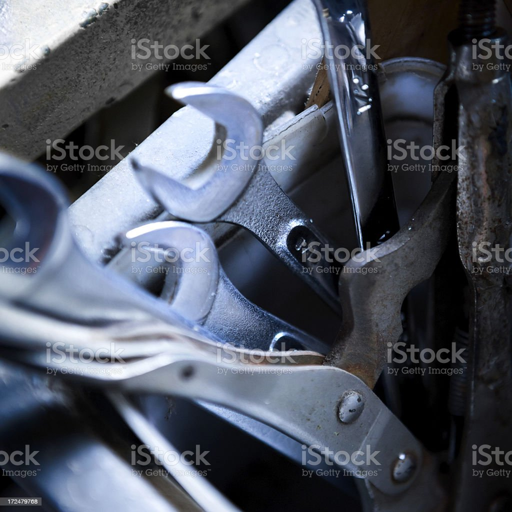Tools and Wrenches royalty-free stock photo