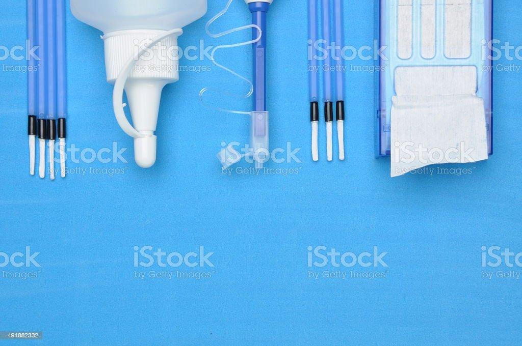 Tools, fiber optic cleaning kit stock photo