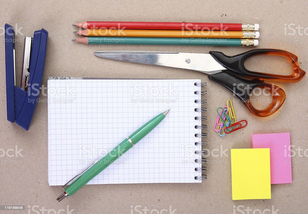 Tools for arts and craft activities royalty-free stock photo