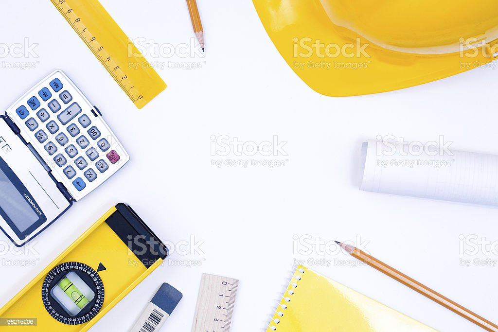 Tools for construction and architecture royalty-free stock photo