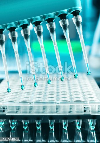 istock Tools for DNA amplification, scientific background 511524573