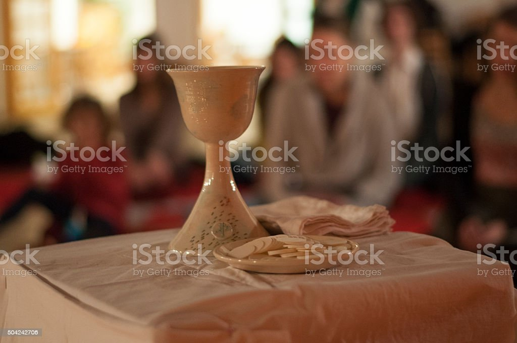 Tools for holy communion stock photo