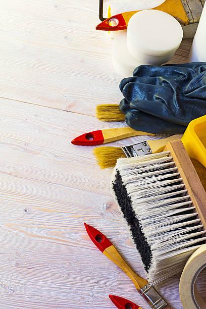 tools für hause reparieren - bild wandtreppe stock-fotos und bilder