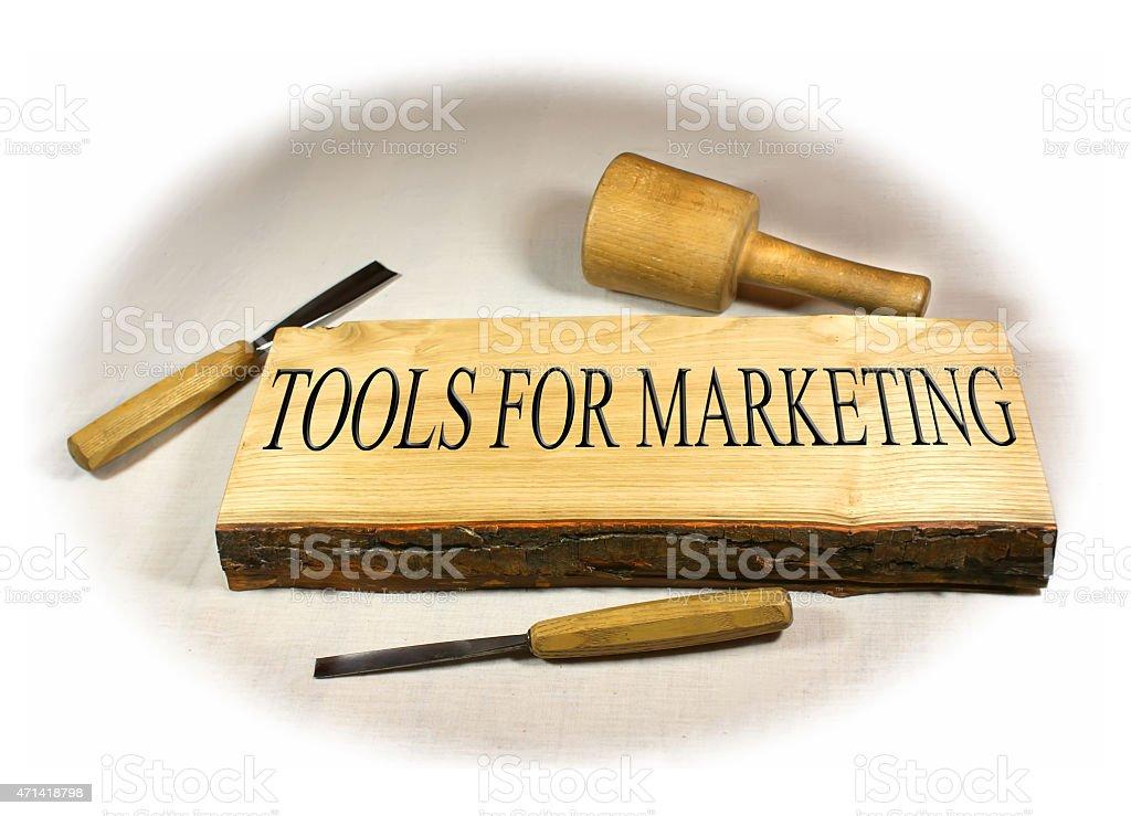 Tools for Marketing stock photo