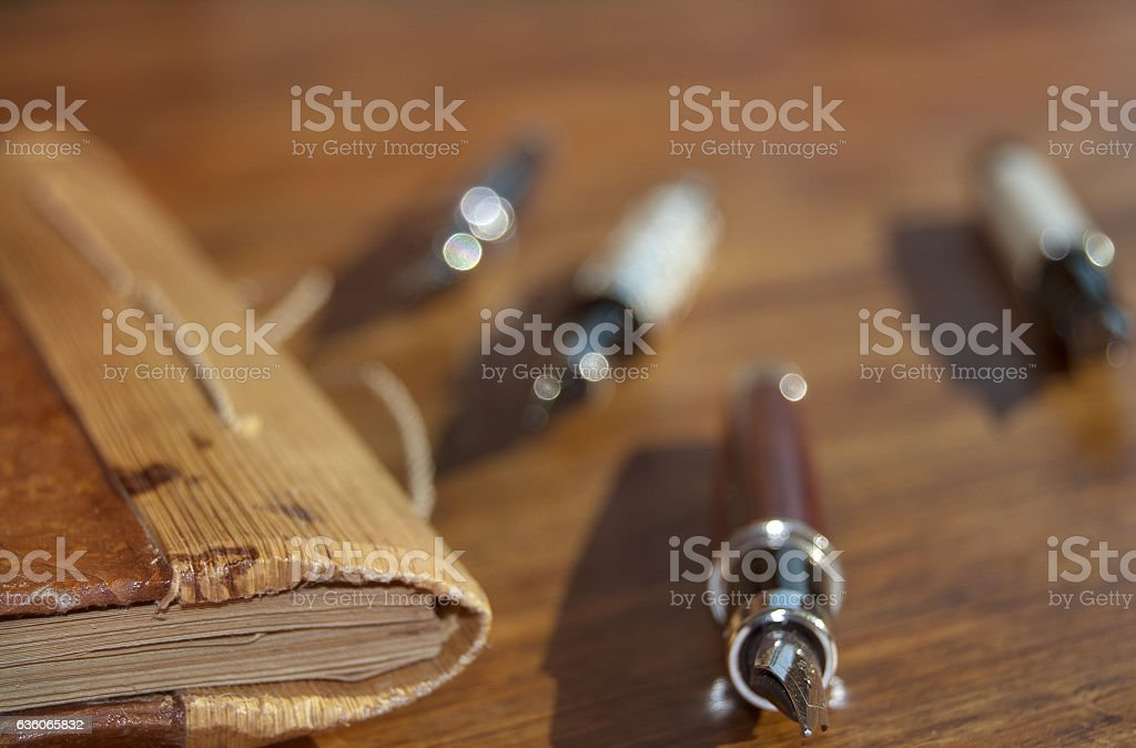 tools for office works stock photo