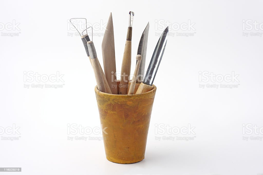 Tools for sculpturing stock photo