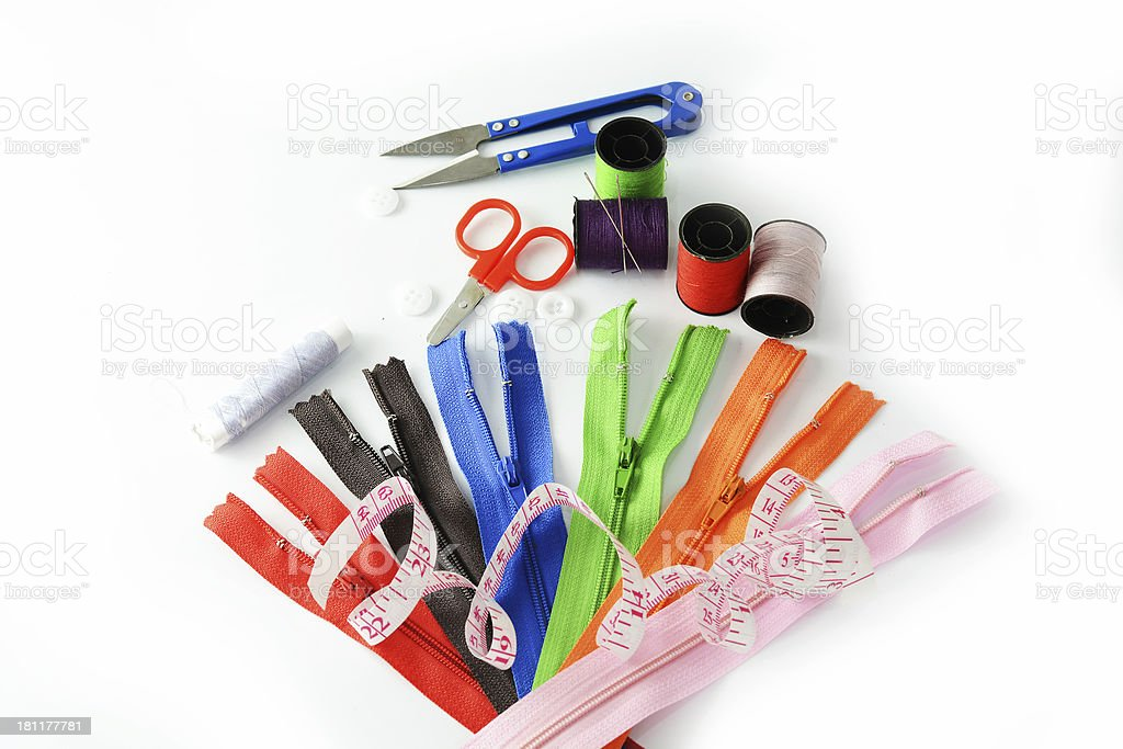 Tools for sewing and handmade royalty-free stock photo