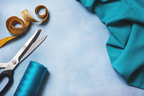 tools for sewing - nadeldesigns stock-fotos und bilder
