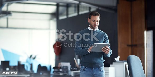 istock Tools for the modern businessman 589544736