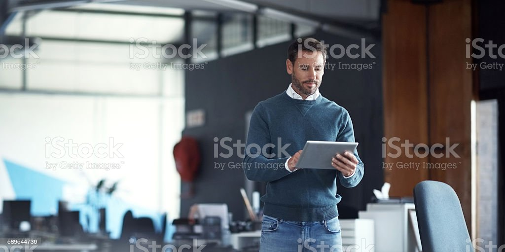 Tools for the modern businessman stock photo