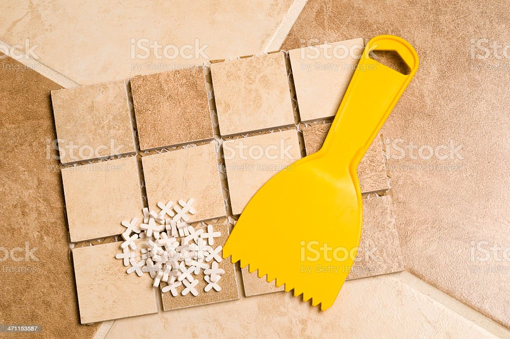 Tools for tiles renovation royalty-free stock photo