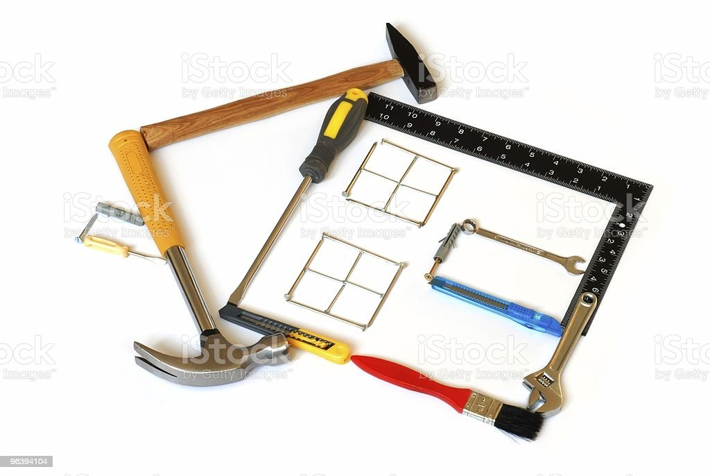 Tools House - Royalty-free Adjustable Wrench Stock Photo