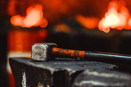 istock Tools in the forge 1064620658