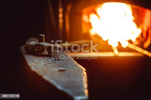 istock Tools in the forge 682703126