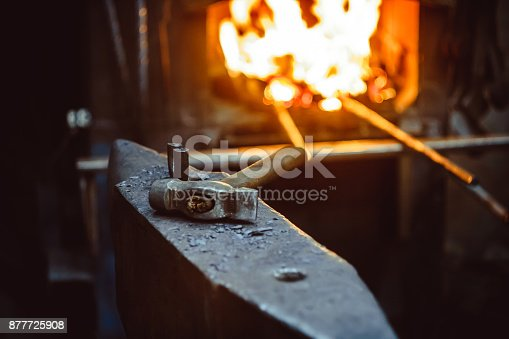 istock Tools in the forge 877725908