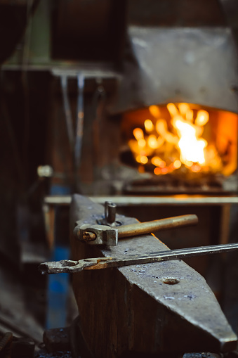 istock Tools in the forge 877726078