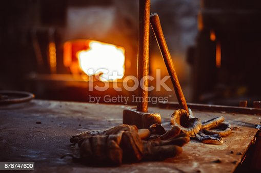 istock Tools in the forge 878747600