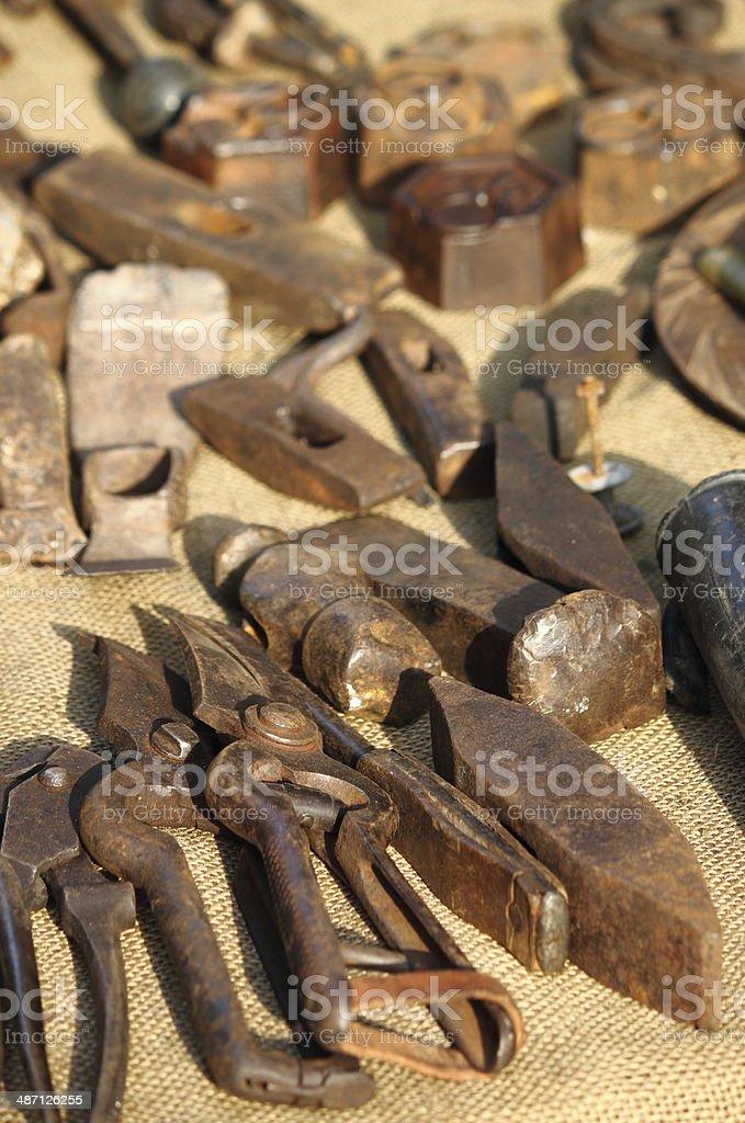 Tools of a blacksmith stock photo