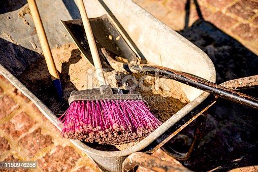 istock Tools of a gardener 1150976258