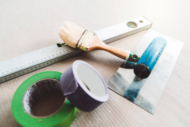 Tools of a professional painter stock photo