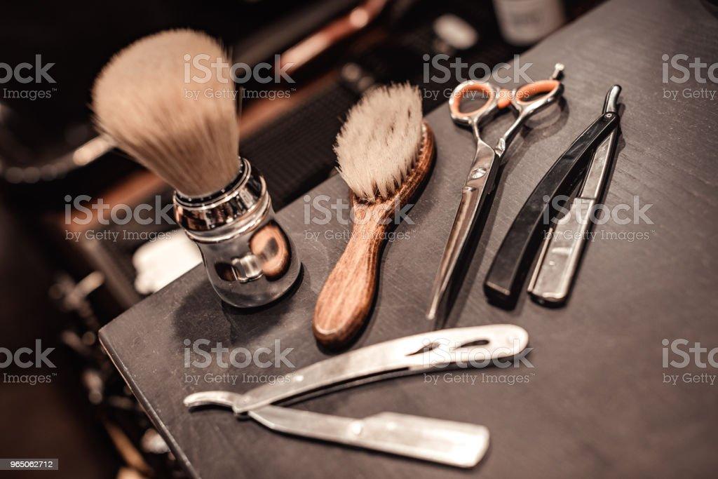 tools of barber shop zbiór zdjęć royalty-free