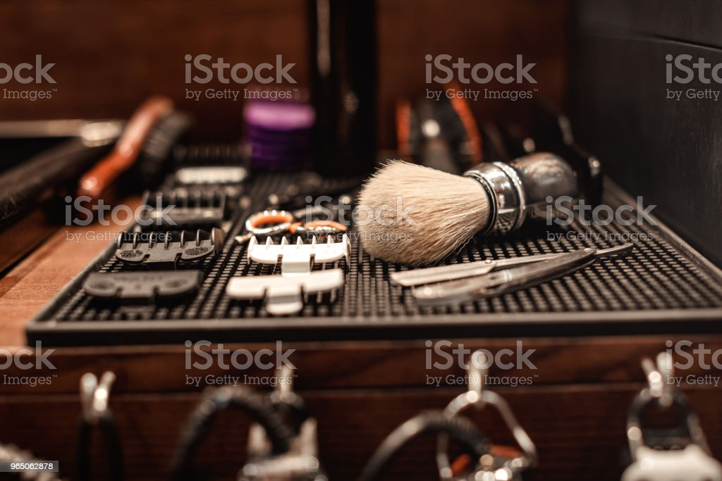 tools of barber shop royalty-free stock photo