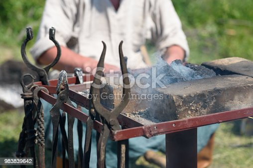 istock Tools of the blacksmith. 983839642