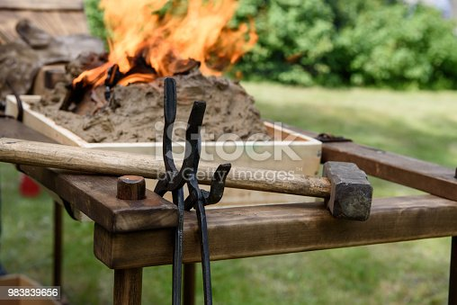 istock Tools of the blacksmith. 983839656