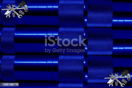 istock Tools of the blue world 1095188728