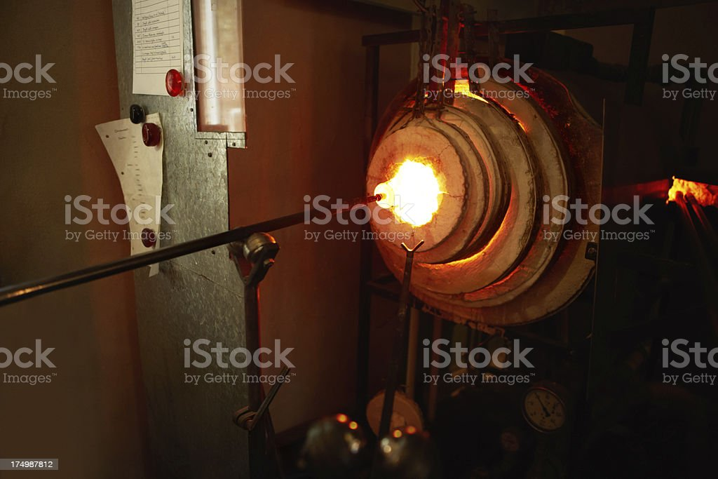 Tools of the glassblowing trade stock photo