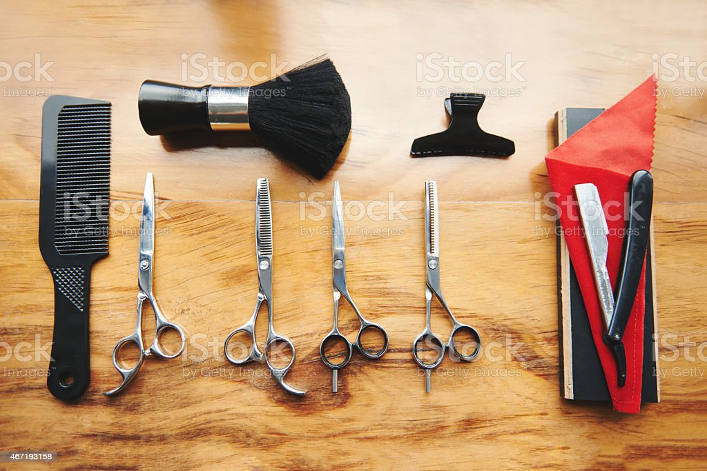 Tools of the stylist's trade stock photo