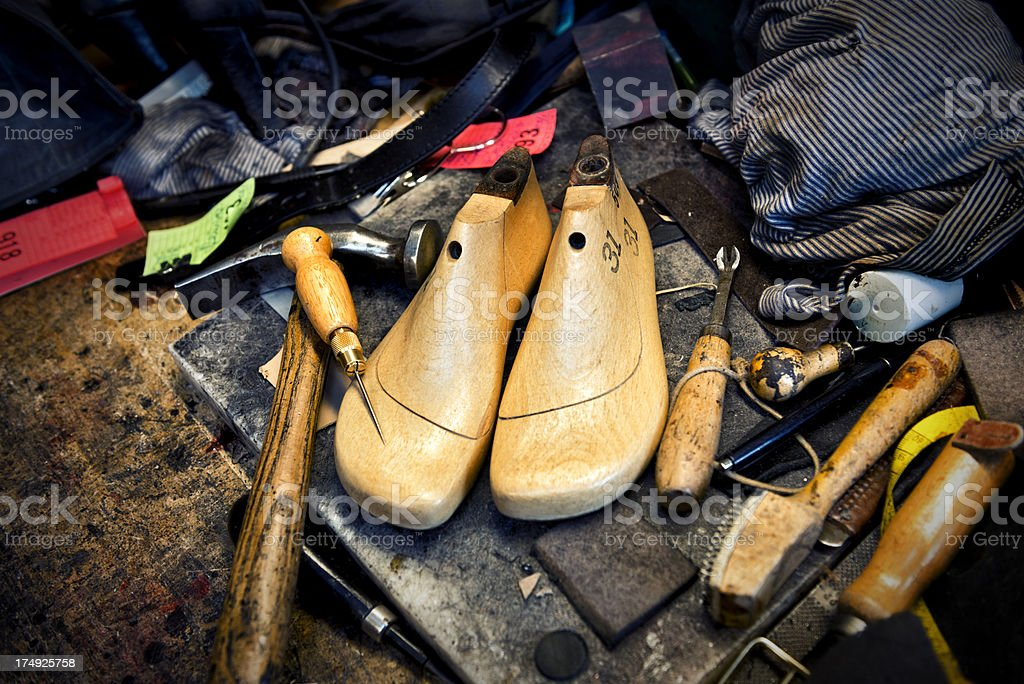 Tools of the Trade For Cobbler Shoemaker royalty-free stock photo