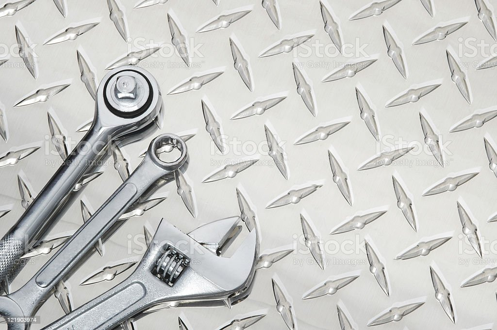 Tools on Steel royalty-free stock photo